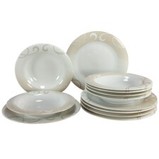 Soft 12 Piece Porcelain Dinnerware Set