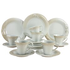 Soft 18 Piece Porcelain Dinnerware Set