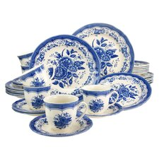 Stoneware Victorian Combo Service 30 Piece Dinnerware Set