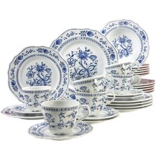 Gloria Blue Onion 30 Piece Dinnerware Set
