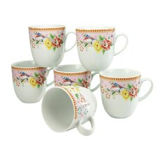 Amelia Birdy Coffee Cup (Set of 6)