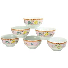 Amelia Birdy 6 Piece Muesli Bowl (Set of 6)