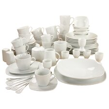 Square 70 Piece Porcelain Dinnerware Set