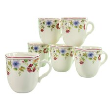 Cornwall Garden Coffee Cup (Set of 6)