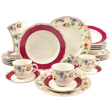 Cornwall Garden 30 Piece Porcelain Dinnerware Set