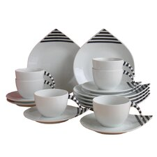Drop Rattenscharf 18 Piece Porcelain Coffee Set