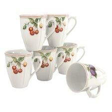 6-tlg. Kaffeetasse Orchard