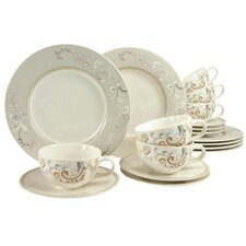 Palacio 18 Piece Porcelain Tea Set