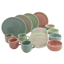 Chicago Pastel 16 Piece Dinnerware Set