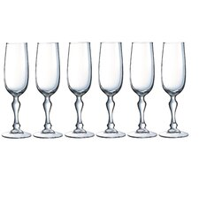 6-tlg. Champagnerflöte Charms