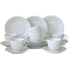 Frederike 18 Piece Porcelain Tea Set