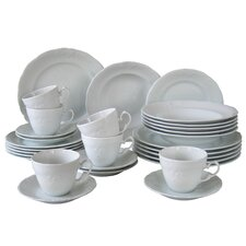 Frederike 30 Piece Porcelain Dinnerware Set