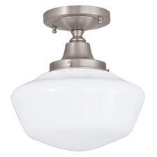 Schoolhouse 1 Light Semi Flush Mount