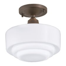 Schoolhouse One Light Semi Flush Mount with Shade