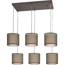 Brella 6 Light Drum Chandelier