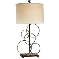 """Acropolis 33"""" H Table Lamp with Drum Shade"""