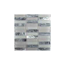 Illumina 12 x 12 Glass Stone Blend Tile in Luster Mosaic