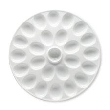 Whiteware Round Deviled Egg Platter