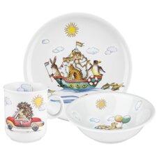 Compact 3-Piece Children's Dinnerware Set