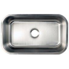 """Loft 18.06"""" x 30"""" Gourmetier Undermount Single Bowl Kitchen Sink"""