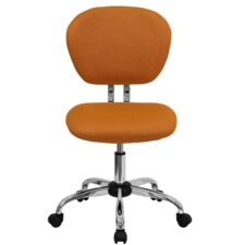Mid-Back Adjustable Office Chair in Tangerine