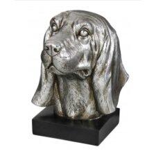 Golden Oaks Silver Decorative Dog Bookend
