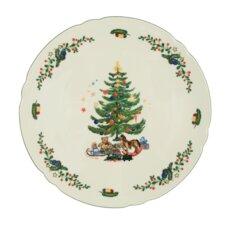 """30 cm Tortenplatte """"Marie-Luise"""" aus Porzellan in Weihnachten-Dekor"""