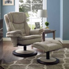 Teatro Swivel Recliner and Ottoman