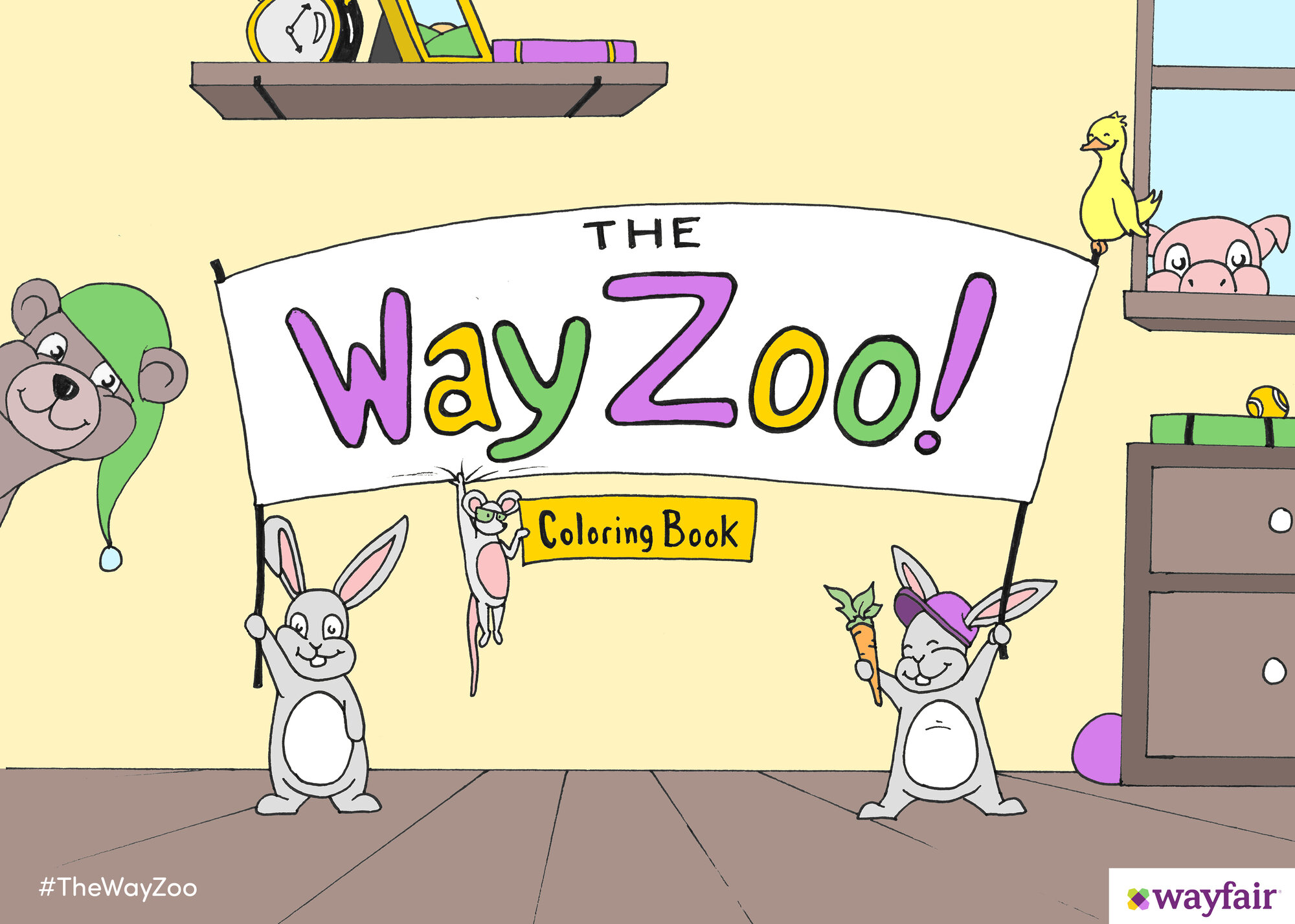 The WayZoo Coloring Book Contest | Wayfair