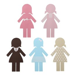 Paper Dolls Wall Decal
