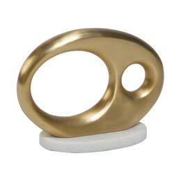 Oval Metal Object