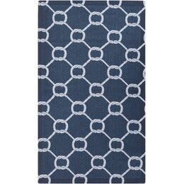 Rope Trellis Navy Outdoor Rug