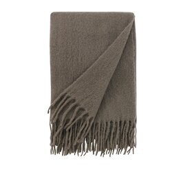 Mohair Solid Ash Throw