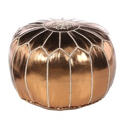 Metallic Bronze Pouf