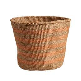 Pale Orange Striped Basket