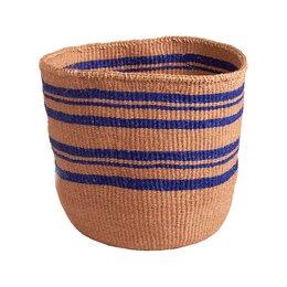 Royal Blue Striped Basket