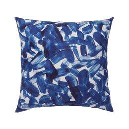 Brushstroke Indigo Pillow