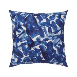 Brushstroke Indigo Throw Pillow Cover