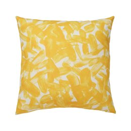 Brushstroke Citrine Pillow Cover