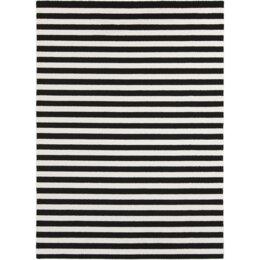 Petite Stripe Slate & Pearl Area Rug