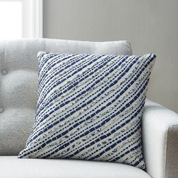 Caspar Cotton Sheeting/Voile Throw Pillow