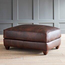 Keegan Leather Ottoman