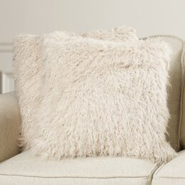 Ralston Faux Sheepskin Throw Pillow (Set of 2)