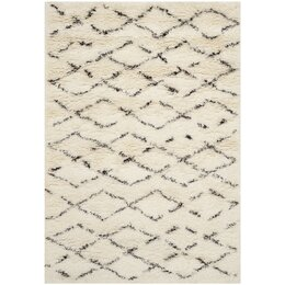 Rioja Rug in White/Brown Area Rug