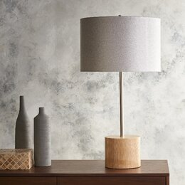 "Wellington 28.54"" H Table Lamp with Drum Shade"
