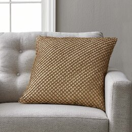 Beaded Diamond Rope Cotton Pillow Cover