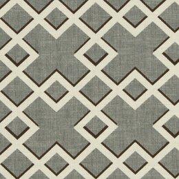 Shadow Trellis Fabric - Toffee