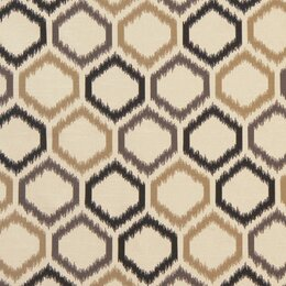 Ikat Trellis Fabric - Toffee
