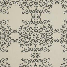 Soft Scrolls Fabric - Charcoal