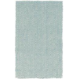 Diamond Hand Woven Jute Slate Blue Rug